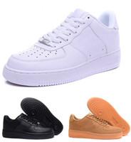 Высококачественные мужчины Низкий скейтборд обувь дешево Один из 1 вязаный Euro Air High женщин силы все белые черные красные скидки тренер дизайнер повседневная обувь