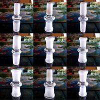 Bong Rauchen Zubehör Adapter Weiß Glas Wasserhukahn Stecker Wasserleitung Männliche Weibchen 14mm 18mm Wandler Multi Spezifikation 3FD N2