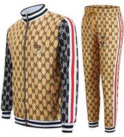 새로운 조깅 남자 정장 패션 스포츠웨어 세트 남자 피트니스 스포츠 셔츠 자켓 + 바지 캐주얼 남성 의류 streetwear 2021 x0124