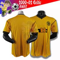 Jerseys de football rétro Celtic 2000-2002 chemise de football adapté aux rides de plein air résistant à la rides Séchoir rapide Sweat Jersey
