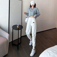 Donne Pantaloni Pantaloni Joggers Sport Style Style Style con lettere Broy Pant Slim per abbigliamento da donna