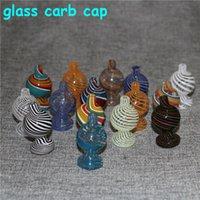 Bolha de vidro colorido Bolha Carb Cap Top Cab Cap Fit para 20mm 25mm Quartz Banger Prego X XL Banger para tubulação de água de vidro