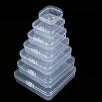Mischgrößen Square Leerer Mini Klare Kunststoff-Speichercontainer Boxkasten mit Deckeln für kleine Gegenstände und andere Handwerksprojekte