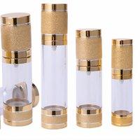 Vide en plastique Presse Alumina bouteille plaqué or de roulement de sable Vaporisateurs cosmétiques Lotion Emulsion séparée Bottling 2 G2 75ft
