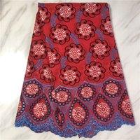Базен Brode африканских тканей шнурка венчания африканских Базен выскочка ткань 5yards вышивки хлопок Швейцарской ткани шнурка для платья