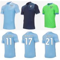 2020/21 Lazio Soccer Jersey 2021 # 17 Immobile Anderson Sergej Couto Uniformes Mens # 10 Luis Alberto J.Correa Camisa de Futebol Lulic