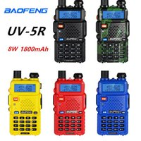 2pcs Baofeng UV-5R Walkie Talkie 8W High Power Walkie portátil uv Radio Ham CB 5R Dual Band FM Transceiver uv5r Radio Two Way