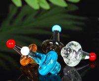 vidrio al por mayor de carbohidratos cubierta del soporte de cristal y soporte de giro ciclónico en carbohidratos tapa de color rosa púrpura de la parte superior plana de cuarzo cacharro DAB Terp Perlas bong