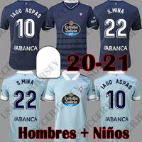 2020 2021 Celta دي فيغو لكرة القدم الفانيلة Iago أسباس سانتي مينا بوفال قميص 20 21 سيلتا أعلى جودة الرجال عدة أطفال موحدة