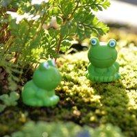 Cartoon Blue Eye piccola rana Ornament figura bambola regalo dei capretti Moss terrario Micro Accessori Paesaggio Fairy Garden decorazione di DIY PPF2482