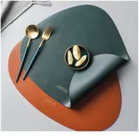 Drop-shaped Shape Placemat Plate Mat Food Grade Leather Table Pad Waterproof Heat Insulation Kitchen Gadget Easy sqcgFi