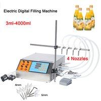 GZL-80 da 3 ml-4000ml digitale elettrico manuale della pompa di comando della macchina piccola bottiglia di profumo del tubo succo di Acqua Minerale olio liquido macchina di rifornimento