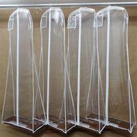 높은 품질의 웨딩 드레스 긴 먼지 가방 1.8 미터 투명 먼지 커버 지퍼를 들어 웨딩 드레스