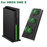 تحكم اللعبة المقود الوقوف العمودي ل Xbox One X SCODOLE GAMEPAD Control Cooling مروحة مع 3 منافذ USB دعم شاحن التحكم 1