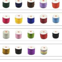 45 M Roll 0.8mm Nylon Kumihimo Thread voor Jewerly Maken Kwast Materiaal DIY Rode Koorden Bevindingen Handgemaakte Gevlochten Touw Leverancier H JllsDM