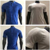 2020 2021 플레이어 버전 영국 축구 유니폼 홈 화이트 웨이션 블루 20/21 남자 축구 셔츠 Kane Lingard Sterling Football Shirt 사용자 정의