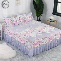 Bettdecken-Cubrecama, Bettdecke Bettwäsche, Mode-Bett-Röcke, Blumen, bunte Bettdecken, Bettauskleidung 1.8 / 1,5 / 1,2 Meter.1