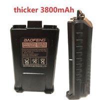Grandi accessori 3800mAh Baofeng Batteria Walkie Talkie per baofeng UV-5R UV-5RA BF-F8HP UV-5RE DM-5R Inoltre Ham Radio Caricabatterie