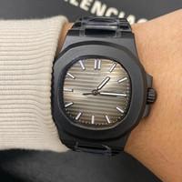 Movimento automatico U1 di stile speciale 5711 uomini orologio da uomo con zaffiro con cristallo grigio quadrante maschio orologio 316 banda inossidabile spedizione gratuita