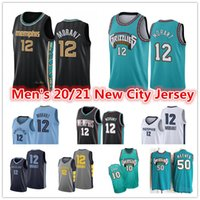 Ja 12 Morant Basketball Jerseys Vintage Men's Vintage 10 Mike Bibby Abdur-Rahim 50 Reeves MemphisGrizzliesVancouverCity Jaren 13 Jackson Jr. Pantalones cortos de baloncesto