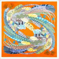 Cachecol de cabelo de cara dupla envoltório 90 cachecóis de seda de seda mão-rolada mão-rolada de penas de penas gargalo fitado faixa de cetim bandana