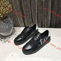 Valentino Calzado deportivo clásico Zapatos de mujer color masculina Reducido zapatos blancos en primavera y otoño de luxe diseño Lin45 cuero plana plana zapatos casuales 34-45