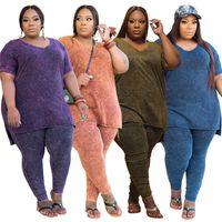 womens short sleeve outfits 2 piece set Plus size tracksuit sportswear jogging sport suit sweatshirt tights sport suit klw5927