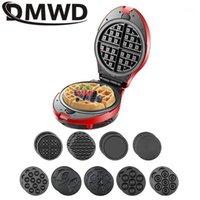 DMWD 220V Multifunción Waffle Maker Electric Donut Helado Cono Parrilla Cake Horno Pan EggetTe Máquina 9 Placas opcionales 31