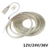24V LED tira luz 5050 SMD impermeable IP67 IP68 Cinta flexible al aire libre Cuerda 1m 5m 10m 20m 30m Cálido fresco blanco rojo azul