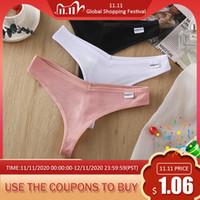 Señoras de algodón hilo sexy thong mujeres transpirables cómodas ropa interior bragas moda m-xl breys baja cintura lencería nuevo 2020