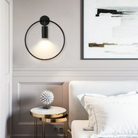 Nordic minimalist light  round wall lamp aisle corridor staircase light bedroom bedside spotlight background wall mirror front lamp