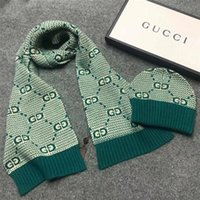2020 Quality Hot Designer Hats Scarves 2 piece Suit Winter men's women's Luxury warm European Knitted adult scarf Hats