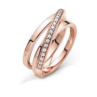 Anillos de racimo pre-otoño 2021 Signature Crossover sobre triple banda anillo mujeres compromiso joyería haciendo anillos de boda1