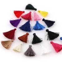 30 unids colorido 25 mm mini algodón borlas pequeñas borlas para la joyería Boho Hacer suministros Pulsera Pendientes Hallazgos COMPONENTES H JLLLLUV