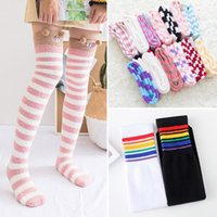 Striped Women Stocking Girls Student Thigh High Stockings Fashion Autumn Winter Warm Female Over Knee Casual Cotton Stocking