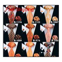 Sonbahar Turuncu Erkekler Için Ucuz Bağları Marka Kravat Moda Abuk Aktif Erkek Boyun Kravat Seti Yüksek Kalite Moda Aksesuarları Kravat HMTZT