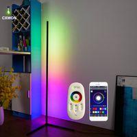북유럽 RGB 코너 램프 현대 간단한 LED로드 바닥 조명 거실 침실 분위기 서 램프 실내 빛
