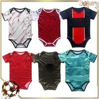 20 21 niños 6-18 meses Mangas cortas Baby Soccer Jersey Jersey infantil Jumpsuits Kits Club Team Uniforme de fútbol