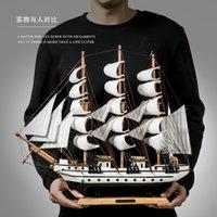 Сейлор миниатюрный деревянный пират парусник капитан корабль модель морских украшений аксессуары современное искусство офисное домашнее декор сувениры lj200903