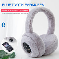 Nova marca sem fio Bluetooth fone de ouvido com microfone música estéreo fone de ouvido de inverno earmuffs de inverno quente fone de ouvido para as mulheres presentes