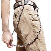 Skull Biker Jean Key portefeuille Chaînes de portefeuille Noir Rock Punk HiP - Metal Keychain Pantalon Belin Chaîne Mode Hommes Accessoires Bijoux DR451