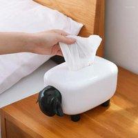 Cocina para el hogar Sala de estar Dormitorio Caja de tejido de alta calidad Estilo europeo pequeño Cute Lindo Sheep Tissue Box1