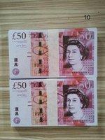 50 PROP самые реалистичные фильма монета фунт фунт евро Бар реквизит денег 100 шт. / Упаковка доллар деньги 06 Prop Money Uk Best Ovvuu
