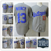 Mens 2020 WS PATCH #13 Max Muncy Jersey Stitched #21 Walker ...