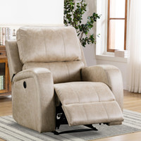 US STOCK Electric Recliner Chair Reclining Single Sofa Air S...