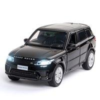 1/32 Modelo de carro Diecast Lands Range Rover Rover Metal Brinquedo Rodas Simulação Som e Light Pull Back Car Coleção Crianças Presente LJ200930