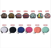 Neoprene Waterproof Zipped Coin Pouch Mask Holder Earbud Case with Keyring Earphone Pouch for Kids