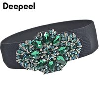 Deepeel 6*70cm Luxury Rhinestone Elastic Cummerbunds Stylish...