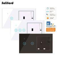 Regno Unito Smart WiFi Interruttore Light Socket wireless Socket da parete Regno Unito Plug Elettrico WiFi Plug Smart Outlet Timer Telecomando Voice Telecomando di Alexa Google Home