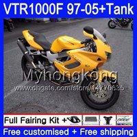Körper + Tank für Honda Superhawk VTR1000F 97 dunkelgelb 98 02 03 04 05 56HM.92 VTR1000 F VTR 1000 F 1000F 1997 2002 2003 2004 2005 Verkleidung